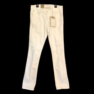 Levi's 552 Mid Rise Straight White Denim Jeans